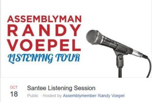 Let's attend Assemblyman Randy Voepel's listening tour