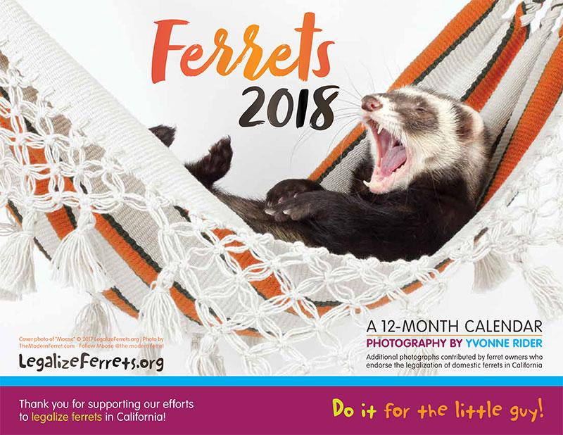 2018 Legalize Ferrets Calendar